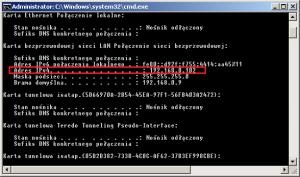 cmd - sprawdzanie numeru IP