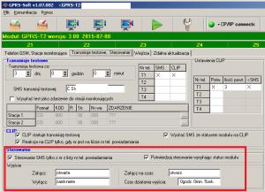 Moduł GPRS-T2 sterowanie wyjściami