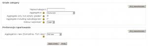 Moodle: konfiguracja kategorii dziennika ocen